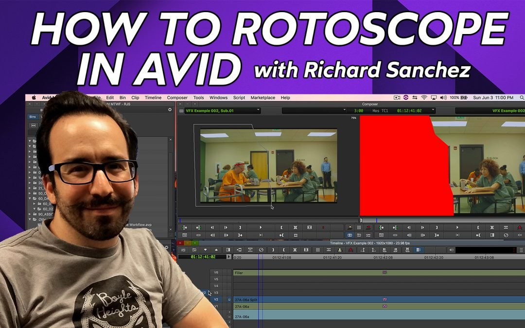 How to Rotoscope in Avid Media Composer